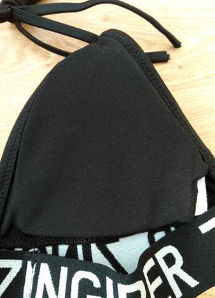 Черный купальник с высокой талией и топом4 фото