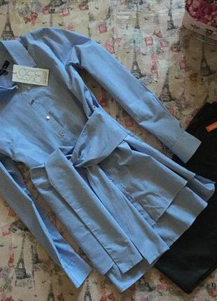 Новая рубашка женская с принтом и поясом top secret рр m-l