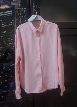 Хлопковая блузка с длинным рукавом  spring fashion (т/м весна)3 фото