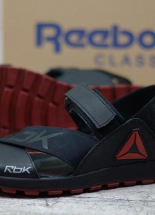 Мужские кожаные сандалии  r-4 красн.