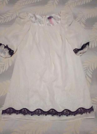 Красивое нежное платье , прямой крой
