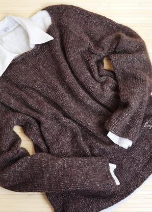 Твидовый свитер oversize