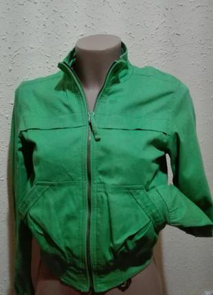 Тренд сезону! стильна, яскрава, котонова курточка, розмір s, charlotte russe, іспанія