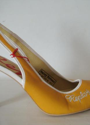 Replay желтые кожаные туфли р. 40