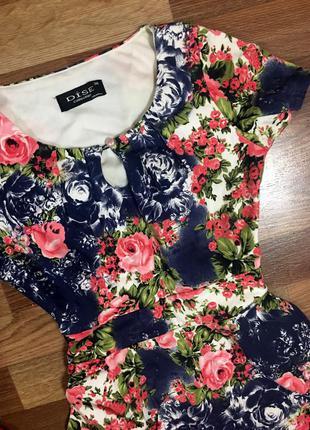 Очень красивое платье в цветок турция