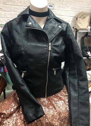 Кожаная куртка косуха new look