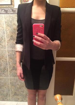 Черный пиджак zara3