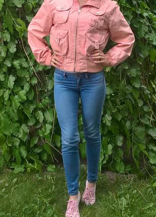 Куртка новая розовая летняя оверсайз бойфренд