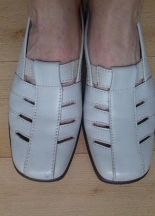 Туфли кожаные летние hotter. англия. 24.5 см