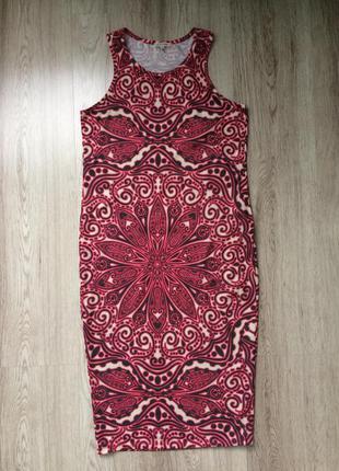 Платье трикотажное миди от river island xs