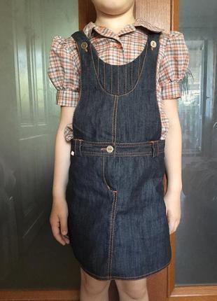 Сарафан + блузка с коротким рукавом р.116