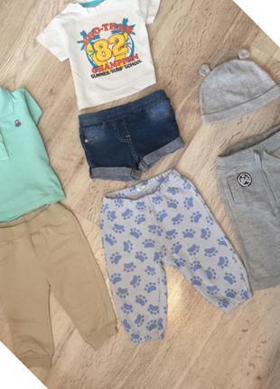 Набор на мальчика, детский костюм1-3-6 месяцев, детские штаны,поло на мальчика,набор вещей