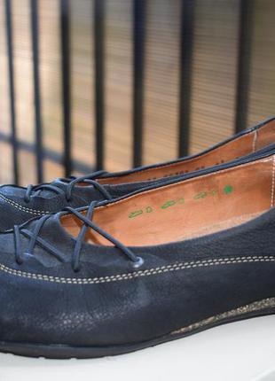 Кожаные ортопедические туфли мокасины лоферы балетки р.42\43 27,5