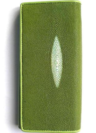 Vip большой кошелек из кожи ската, 100% натур. кожа ската + телячья, уценка
