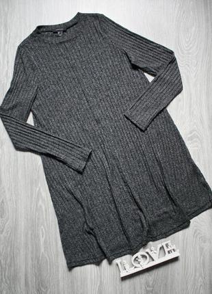 Базовое платье в рубчик р. 50