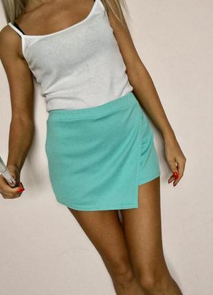Шорти юбка мятного цвета