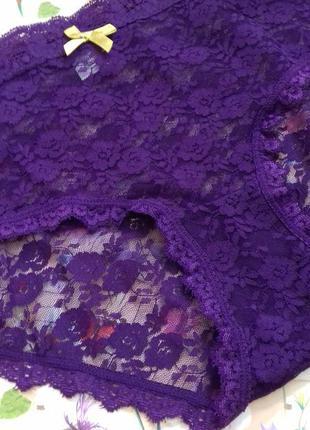Фіолетові кружевні трусики ellen amber. розмір  l.