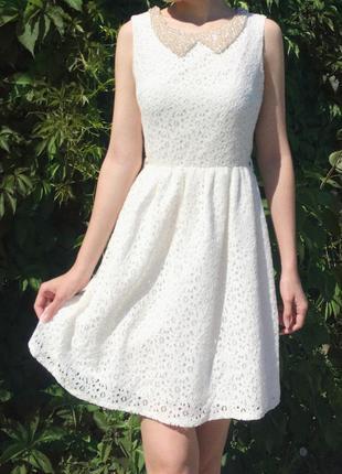 Платье белоснежное  с биркой от lc waikiki
