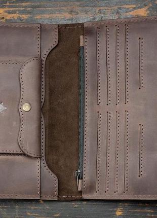 Портмоне клатч мужской long wallet menstuff brwn2 фото