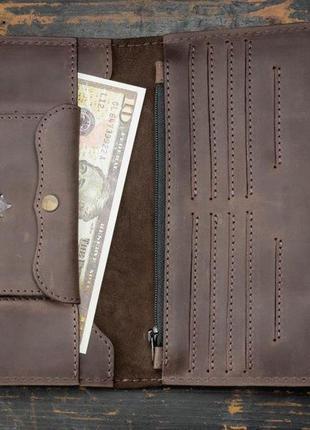 Портмоне клатч мужской long wallet menstuff brwn3 фото