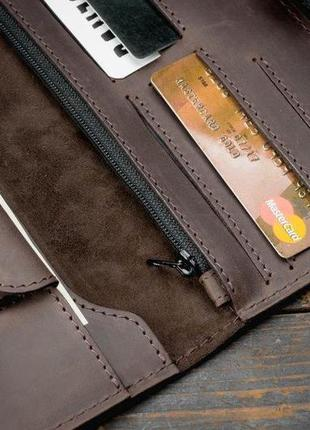 Портмоне клатч мужской long wallet menstuff brwn5 фото