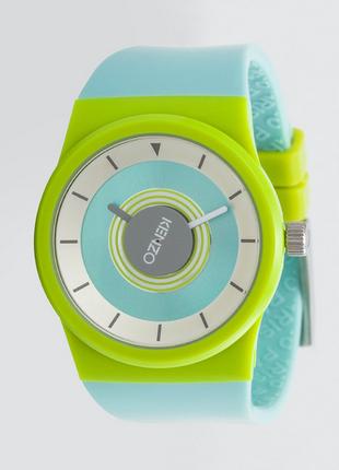 100% оригинал. новые. стильные часы kenzo watch. унисекс. мята/неоново-зелёный