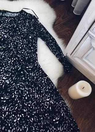 Платье чёрное летнее/ леопардовое/ короткое/ f&f