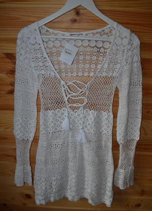 Вязаное короткое платье prettylittlething от asos