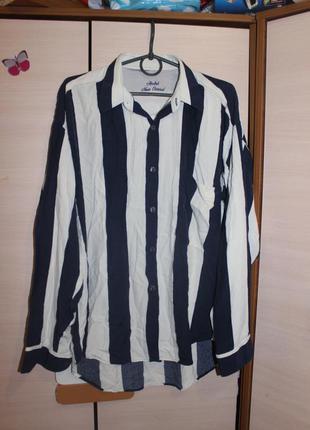 Рубашка в широку полоску оверсайз andre new casual