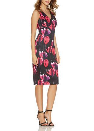 Неопреновое платье миди с цветочным принтом от quiz