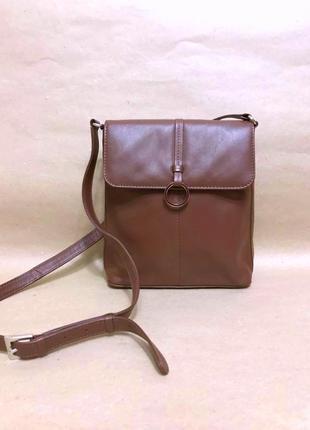 Hotter кожаная сумка через плечо планшет длинная ручка кожа кроссбоди