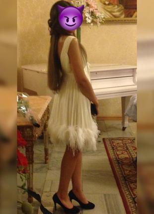 Коктейльное платье из натуральных перьев марабу 😍