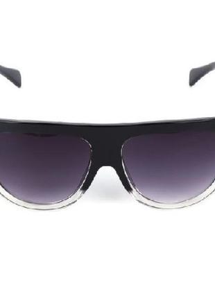 Уценка массивные трендовые солнцезащитные очки черная оправа градиент типа celine