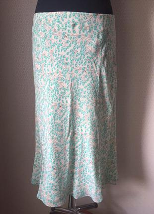 Романтичная летняя шёлковая юбка большого размера (англ 16, укр 50-52) от monsoon