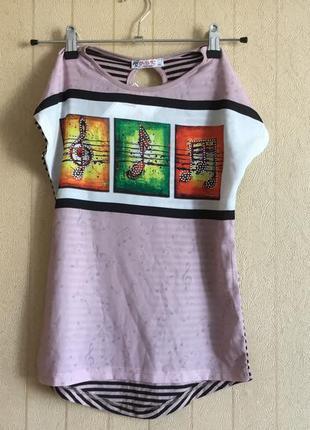 Стильная и красивая футболка для девочек