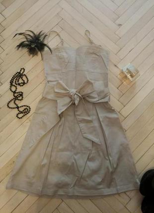 Мегастильное платье сарафан calliope хаки коттон. и много других вещей по низким ценам