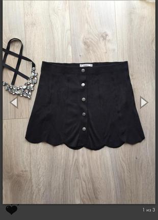 Крутая мини юбка,под замш 🖤
