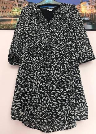 Шикарное платье с рюшами , легкое платье трапеция
