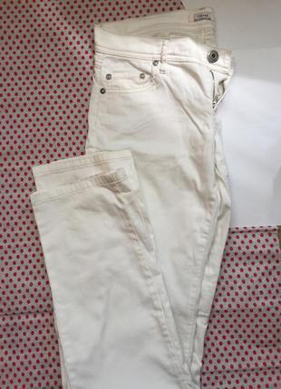 Белые повседневные брюки colin's