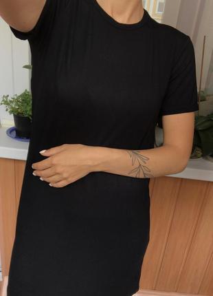 Новое чёрное платье-футболка с биркой