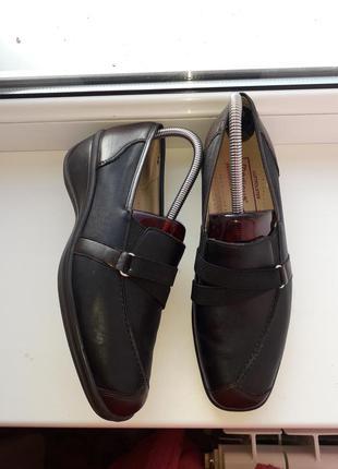 Удобные туфли,мокасины кожа!medicus