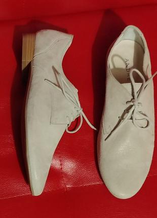 Кожаные туфли мокасины andre