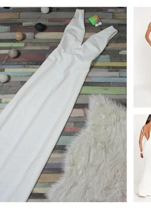 Брендове довге біле плаття misqmisguided