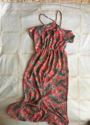 Длинное платье сарафан в пол