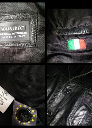 Куртка кожаная знаменитого бренда aviatrix