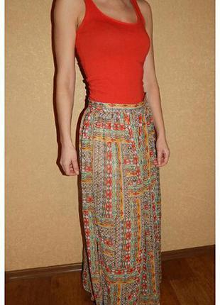 Длинная шифоновая юбка новая