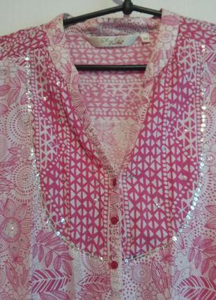 Очень нежная красивая блуза рубашка 22 роз.