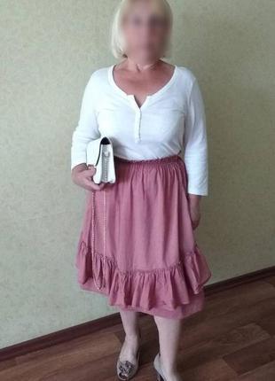 Летная хлопковая юбка