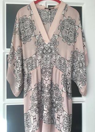 Супер платье туника пудрового цвета