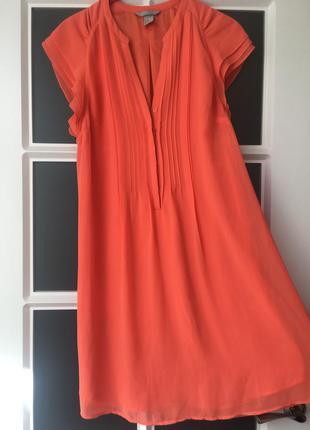 Супер платье кораллового цвета